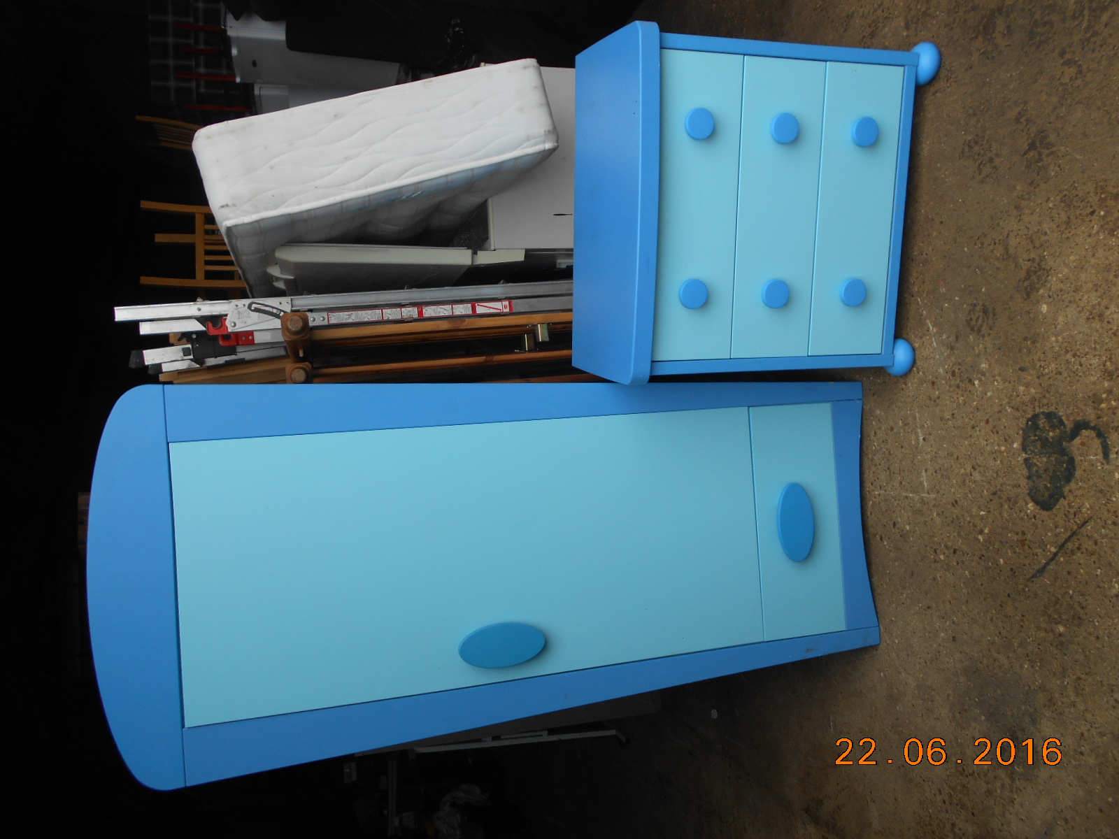 Matching childs wardrobe and chest of drawers